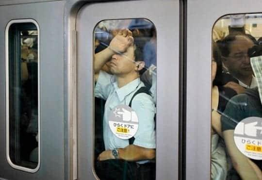 час пик в японском метро