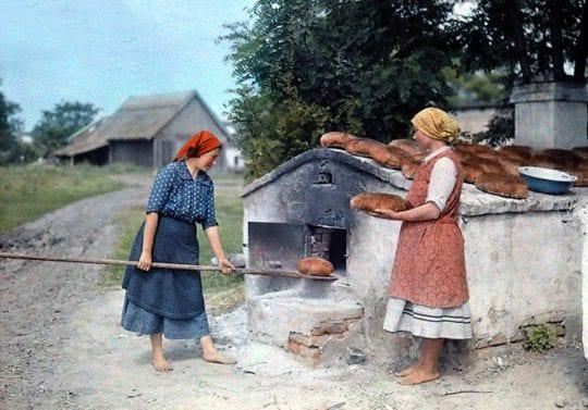 хлеб и печь