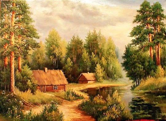деревушка у реки