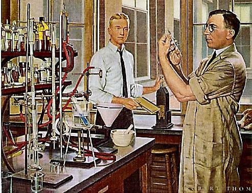 Бантинг в лаборатории