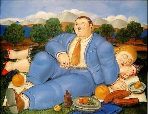 картина маслом ожирение