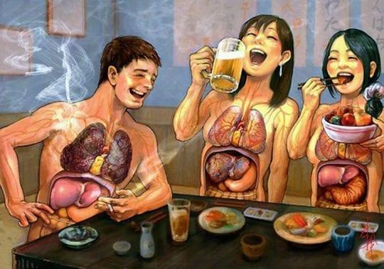 убойная еда и выпивка
