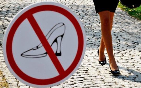 запрет каблуков