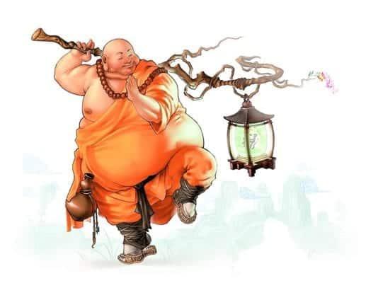 монах толстый