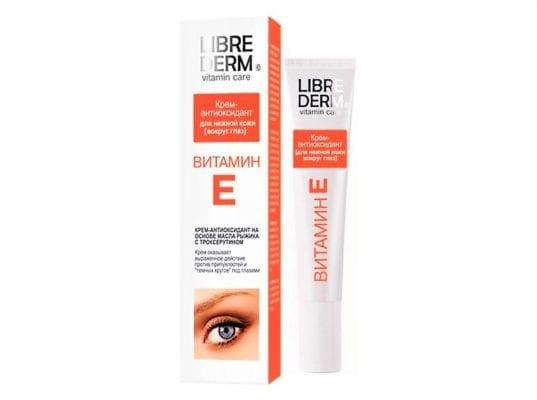 крем с витамином Е вокруг глаз