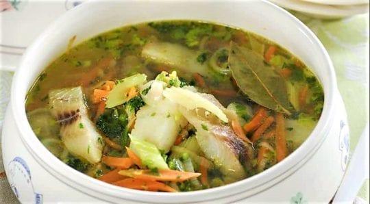 суп из сельдерея и рыбы для похудения