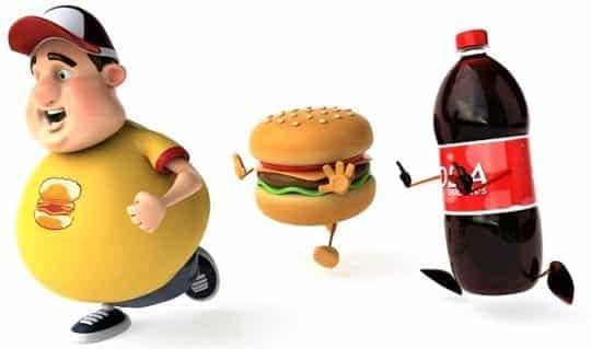толстый мальчик и кола