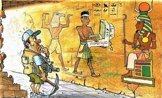 археолог и египтяне