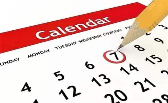7 дней на календаре