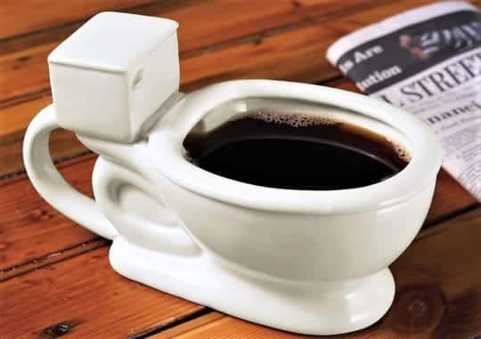 чашка кофе унитаз