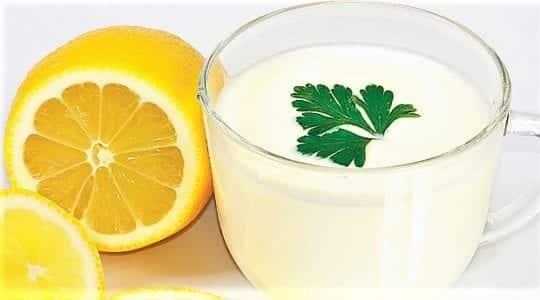 лимон с кефиром