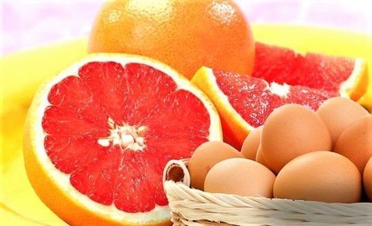 яйца и цитрусы