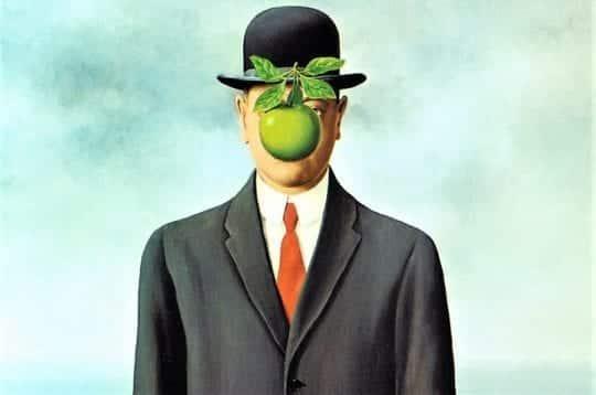 человек яблоко