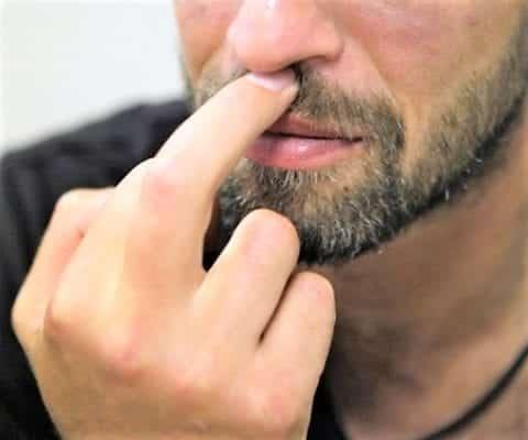 область между носом и верхней губой