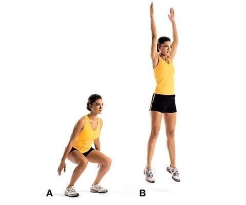 упражнение лягушка прыжки