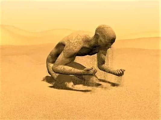 человек песок