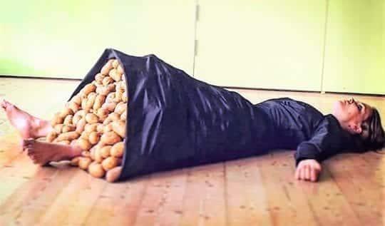 девушка картошка