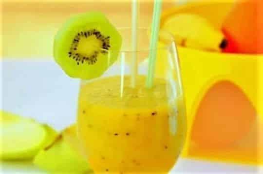 коктейль апельсин киви банан