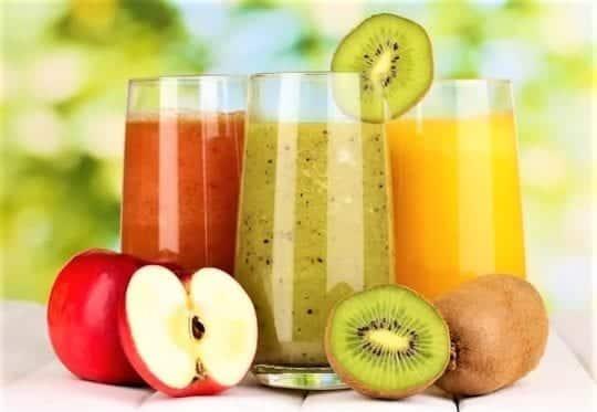 коктейль с яблоками грейпфрут киви
