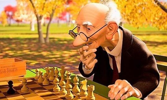 шахматисты в игре