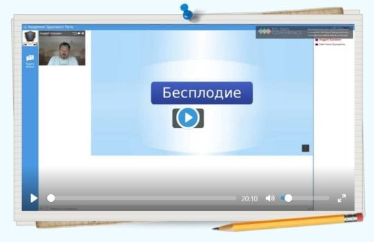 вебинар №2 Бесплодие Онлайн академия здорового тела